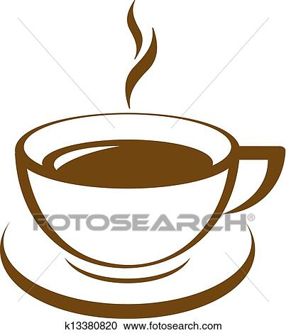 clipart of vector icon of coffee cup k13380820 search clip art rh fotosearch com coffee cup clip art royalty free coffee cup clip art images