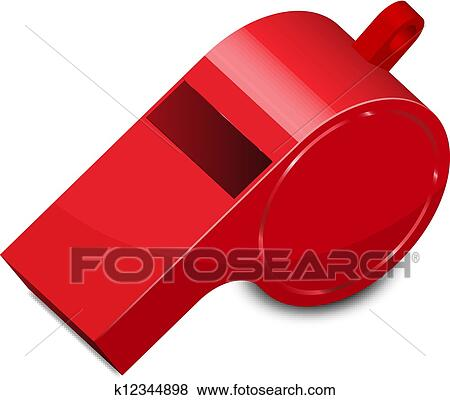 clip art of vector illustration of whistle k12344898 search rh fotosearch com train whistle clip art whistle clipart png