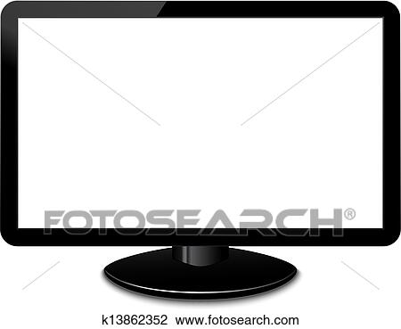 clipart of vector modern screen computer monitor eps 10 k13862352 rh fotosearch com