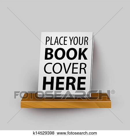 Clip Art Of Vector Wooden Realistic Bookshelf Template With Your