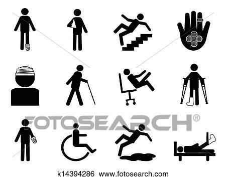 Verletzung, heiligenbilder, satz Clip Art | k14394286 ...