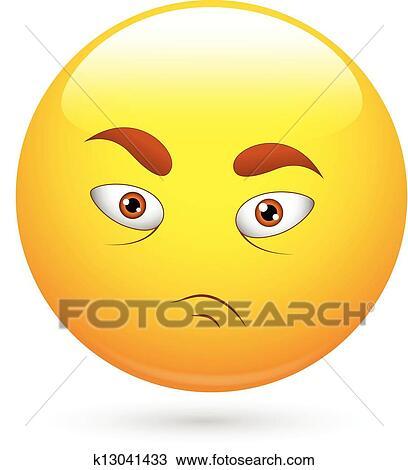 Verzweifelter Smiley