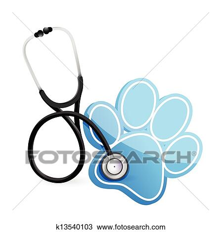 clipart of veterinarian concept with a stethoscope k13540103 rh fotosearch com veterinarian clipart images veterinarian tools clipart