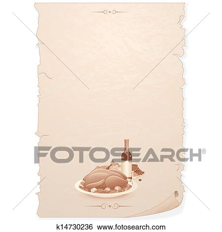 Vintage Menu  Blank Template for Your Text  Stock Illustration