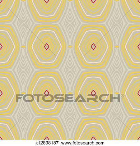 Vintage Pattern Fifties Wallpaper Clip Art K12898187