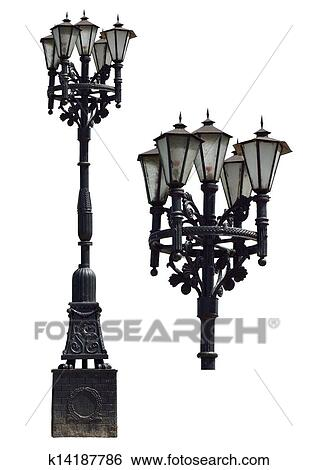 stock illustration of vintage street lamp k14187786 search clip