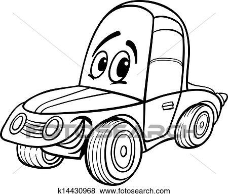 Clipart voiture dessin anim illustration pour livre - Dessin anime voiture de course ...