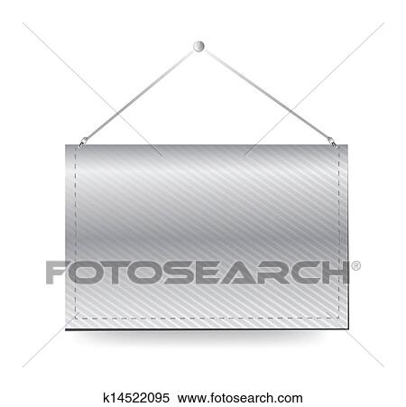 Clipart Of Wall Hanging Blank Template Banner K14522095 Search