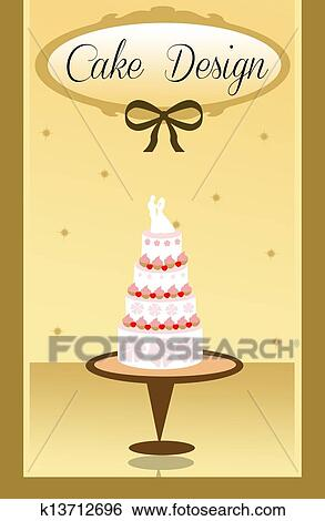 Stock Illustration Of Wedding Cake K13712696 Search Clip Art