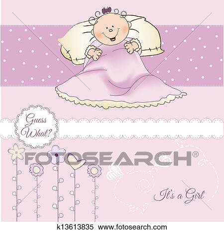 Welcome New Baby Girl Clipart K13613835 Fotosearch