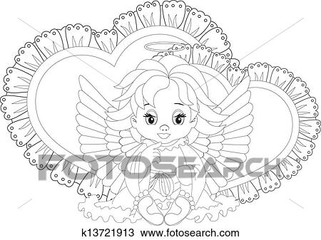 Clipart - wenig engel, färbung, seite k13721913 - Suche Clip Art ...