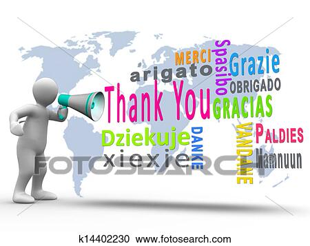 stock illustrations of white figure revealing thank you in different rh fotosearch com thank you in many languages free clipart thank you in different languages clipart