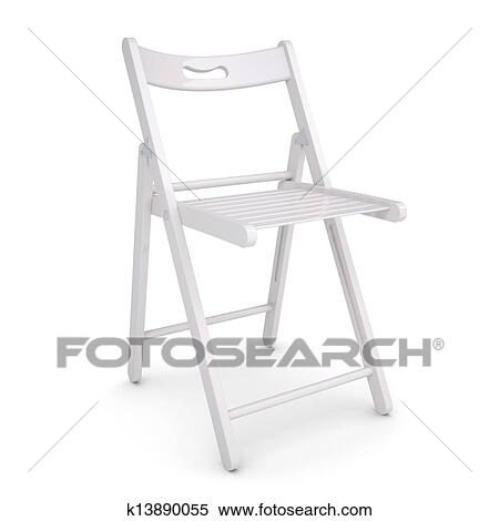 Ordinaire Stock Illustration   White Folding Chair. Fotosearch   Search Clipart,  Drawings, Decorative Prints