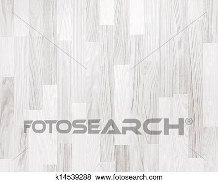 White Wooden Parquet Flooring Texture Horizontal Seamless Background