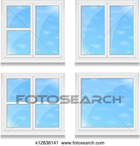 Windows Clipart K12838141 Fotosearch