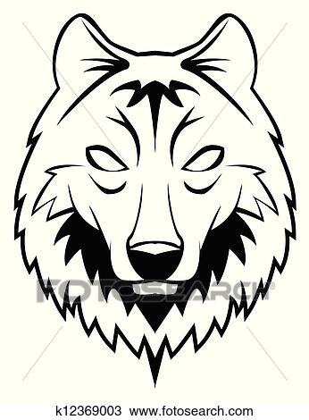 clipart of wolf head k12369003 search clip art illustration rh fotosearch com howling wolf head clipart wolf head silhouette clip art