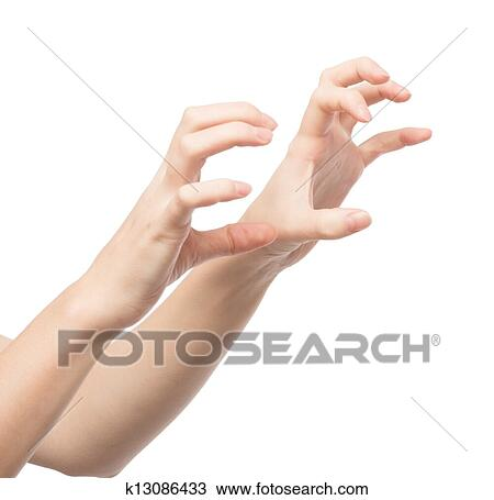9065ed088754e Woman's hand holding something Stock Image | k13086433 | Fotosearch