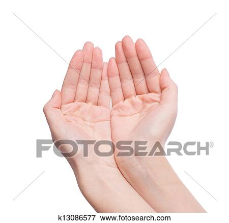 d8cbb814a099d Woman's hand holding something Stock Photo | k13086577 | Fotosearch