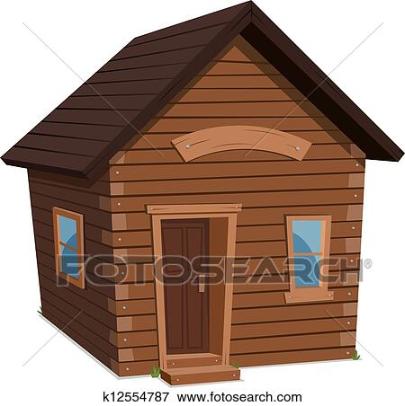 Wood House Lifestyle Clip Art K12554787