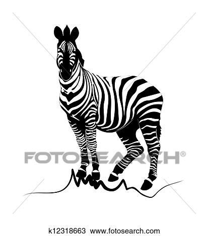 Clipart Of Zebra Black K12318663