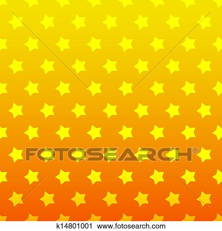 Étoile, seamless, arrière-plan., jaune, et, couleur orange Clipart