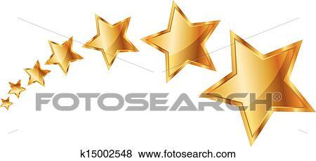 الذهب النجوم Clip Art K15002548 Fotosearch