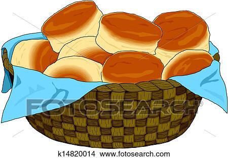 سلة الخبز Clipart K14820014 Fotosearch
