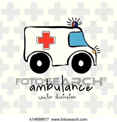 سيارة إسعاف Clip Art K14699677 Fotosearch
