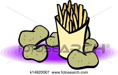 عزل عزل الكيس رقائق بطاطا Clip Art K14820067 Fotosearch