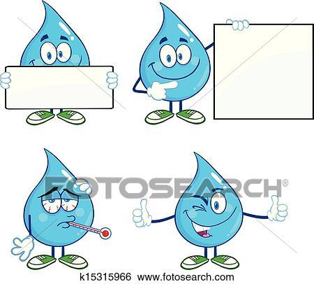 رسمة قطرة ماء