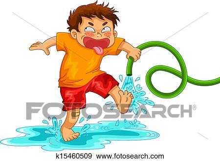 いたずら好きである 男の子 クリップアート K15460509 Fotosearch