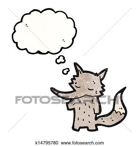 かわいい わずかしか 狼 漫画 クリップアート 切り張り イラスト 絵画 集 K Fotosearch
