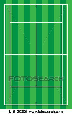 テニスコート イラスト K15130306 Fotosearch