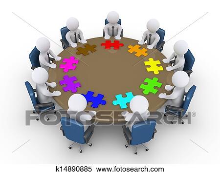 ビジネスマン 中に A ミーティング 提案しなさい 別 解決 イラスト