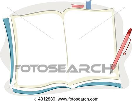 ブランク ノート クリップアート切り張りイラスト絵画集