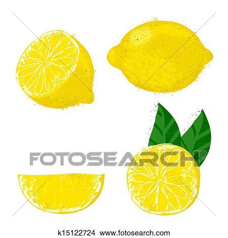 ベクトル イラスト の レモン Fruits クリップアート切り張り