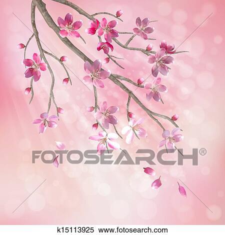 春 ベクトル 桜の木 ブランチ クリップアート切り張りイラスト