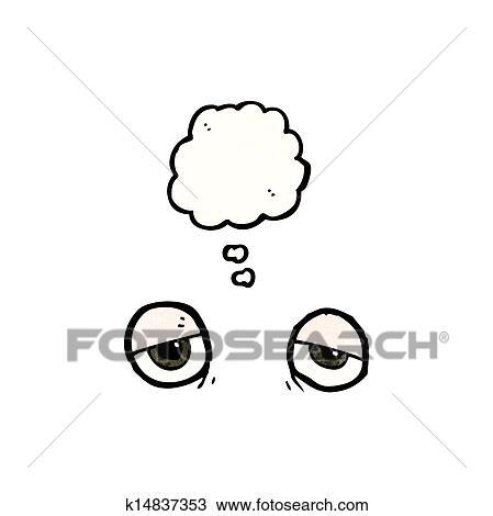 疲れた 目 漫画 クリップアート切り張りイラスト絵画集