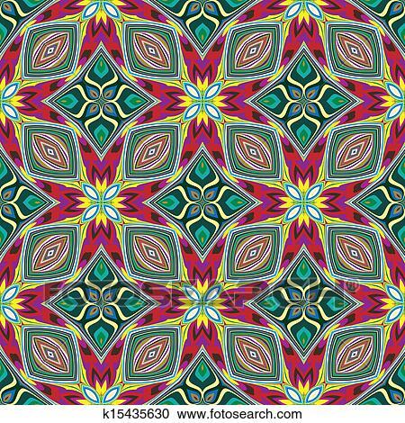織物デザイン から カリブ海 クリップアート切り張りイラスト