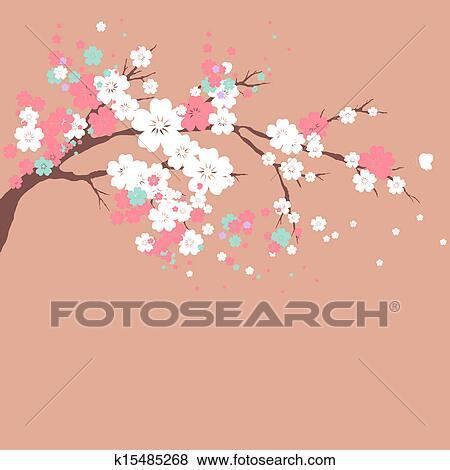 花 デザイン イラスト K15485268 Fotosearch