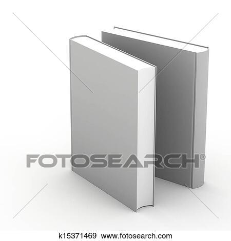 3d Livre Blanc Couverture Sur Fond Blanc Banque D Illustrations