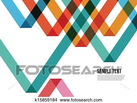 Abstract Colorful Triangle Pattern Background Cover