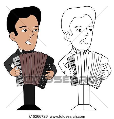 Dessin Accordéon clipart - accordéoniste, dessin animé k15266726 - recherchez des