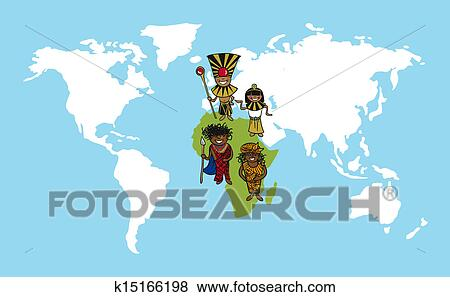 Clip art of africa people cartoons world map diversity illustration clip art africa people cartoons world map diversity illustration fotosearch search clipart gumiabroncs Image collections