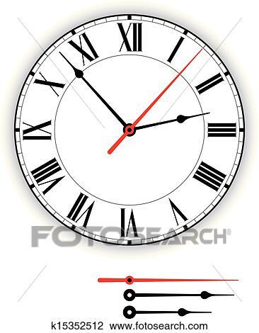 Antique Clock Face Clipart
