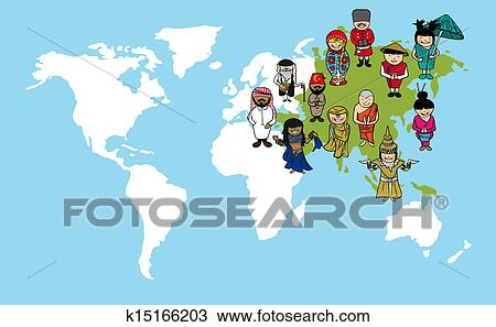 Clipart of asian people cartoons world map diversity illustration clipart asian people cartoons world map diversity illustration fotosearch search clip gumiabroncs Images