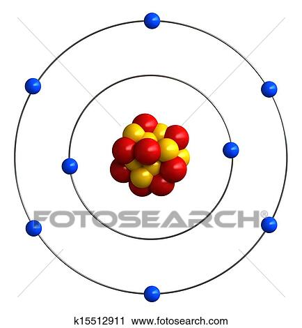 Clipart Of Atomic Structure Of Oxygen K15512911 Search Clip Art