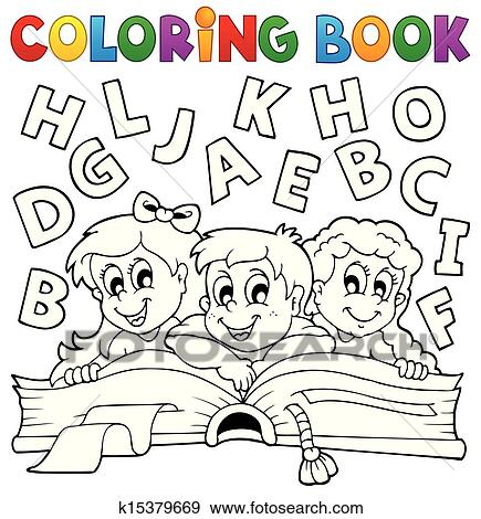 Clip Art Ausmalbilder Kinder Thema 5 K15379669 Suche Clipart