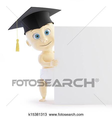 Baby preschool graduation cap form Drawing
