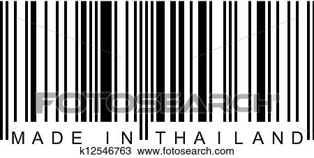 clipart of barcode made in thailand k12546763 search clip art